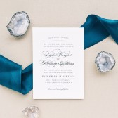 With it\'s timeless charm and graceful typography, the Elegant Vintage is a beautiful wedding invitation your guests will absolutely adore.