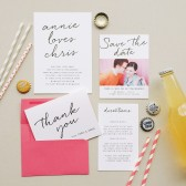 Brush Script is simple yet very chic. Even better, colors and fonts are customizable to your tastes, making it a card you are sure to love.