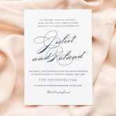 The Classic Script stands out among other invitations with it\'s clean lines and an elegant typeface. The back continues to delight with a handsome marble effect. Customize it now!