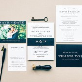 The Traditional Sophistication wedding invitation is classy, elegant, and brimming with poise. Featuring beautiful contrast of typefaces, creating a graceful design that will never go out of style.