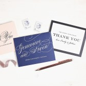 Weddings are such beautiful and unique events, there\'s no reason they shouldn\'t be glamorous! Let your guests know how appreciative you are for them by sending them a Glamorous Thank You Card!