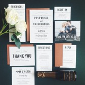 Playbill Wedding Invitations
