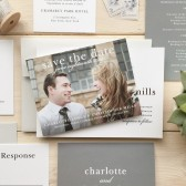 Sophisticated Typography Save-The-Date Card