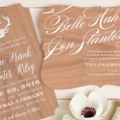 Cheri Wood Wedding Invitations