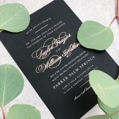 Elegant Vintage Foil Wedding Invitation