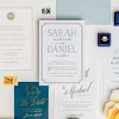 Type Frame Wedding Invitation