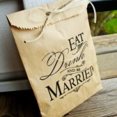 Be Married Paper Favor Bag