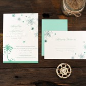 Beach Fireworks Wedding Invitations