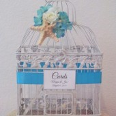 Beach Theme Birdcage Wedding Card Holder With Starfish