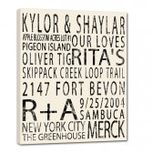 Custom Elite Wedding Typographic Wall Sign