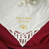 Wedding Handkerchief Personalized