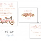 Built for Two Bicycle Wedding Invitations