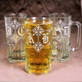 Gigantic 1 liter beer steins, gifts for groomsmen