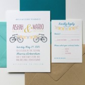 Bike and Banner Invitation