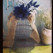 Rustic Birdcage Card Holder