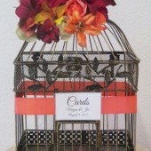 Tropical Wedding Birdcage Card Holder