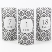 Damask Table Number Vase Wraps