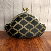 Black gold small clutch