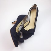 Black Suede Bridal Shoes