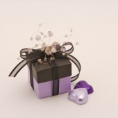 Black & Lilac Jewel Favor Box