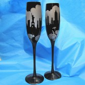 New York Wedding champagne flutes