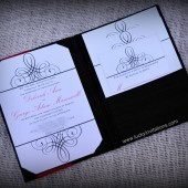 Black Silk Wedding Invitation