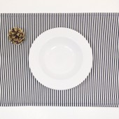 Black and White striped placemats - set of 4