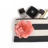 Stripe wedding clutch