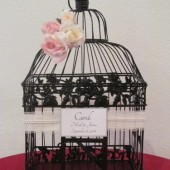 Black Birdcage Wedding Card Holder