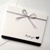 Black and Silver Wedding Thank You Card