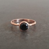 Black Spiel Engagement Ring in Rose Gold