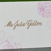 Blank Floral Place Card