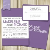 Subway Style Modern Block Text Wedding Invitation and RSVP. Printable and Personalize.