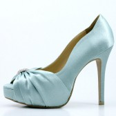 Something Blue Bridal Shoes with Rhinestones