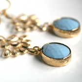 Powder Blue, Turquoise, Gold Earrings, Light Blue, Blue Earrings
