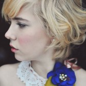 Vintage Lace and Silk Flower Bridal Necklace