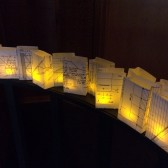 Blueprint Luminarias, Blueprint Luminaries, Architect Wedding