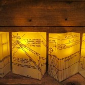 Luminaries, Architect Wedding, Modern Decor, Blueprints
