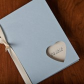 Simple wedding program with colored cardstock