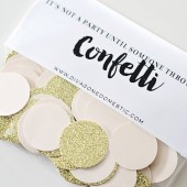 Blush pink and gold glitter confetti – Limited Edition