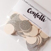 Blush pinky peach and silver glitter confetti packet – Limited Edition