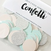 Aqua, pink & silver glitter confetti packet – Limited Edition