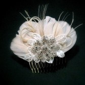 Blush Bridal Fascinator Headpiece