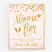 Blush Pink & Gold Confetti Mimosa Bar DIY Printable SIgn by The Spotted Olive