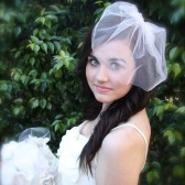 Tulle Birdcage Veil Vintage Modern Veil Bridal Illusion Tulle Veil Pink, ivory, white, champagne