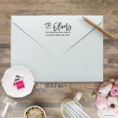 Script Address Stamp | Blush Paper Co.