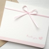 Blush Wedding Thank You Card