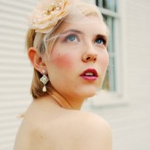 Birdcage veil with Blush Blossom