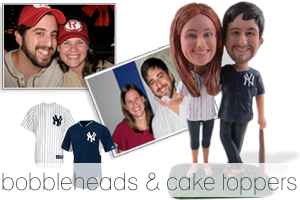 bobbleheads and cake toppers