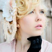 Bohemian Flower fascinator with Freshwater pearls